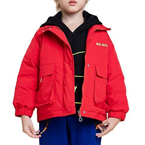 MiXiaoJie Kinder Winterjacke Jungen Gepolsterter Mantel Süß Cartoon-Druck Baumwolle Oberbekleidung 3-4 Jahre