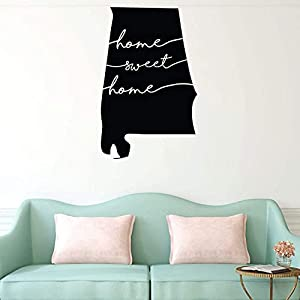 Wall Stickers Vinyl Mural Home Decor Home Sweet Home Alabama Wall Decal State Silhouette Vinyl Art for Home Decor Living Room or Family Room Decoration