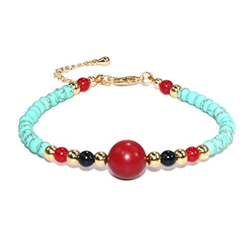 Jan Dee natuurlijke Agaat gesimuleerde turquoise armbanden voor dames cadeau kristallen armband