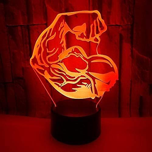 3D Night Light ModellLigyht Gym s 7 colores que cambian la lámpara de escritorio táctil para niños cumpleaños regalos de Navidad