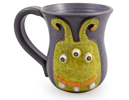 Caffeine Monster Mug - American Handmade Stoneware Pottery, 14 oz