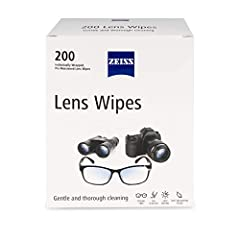 GENTLE: Pre-moistened lens wipes gently clean glasses and lenses SAFE: Safe for cleaning lenses with anti-reflective coating or prescription EFFECTIVE: ZEISS lens wipes clean without leaving streaks or residue SCRATCH FREE: Guaranteed not to scratch ...