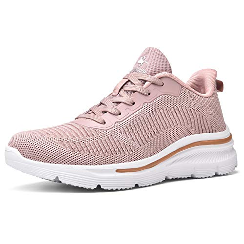 Kaopabolo Turnschuhe Damen Atmungsaktiv Leichtgewichts Laufschuhe Damen Sneaker Damen Sportschuhe Fitness Trainer für Outdoor Fitness Gym Pink 39