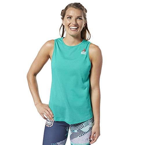 Reebok RC AC + Cotton Tank Games T-Shirt, ärmellos, Smaragd/Smaragd, M
