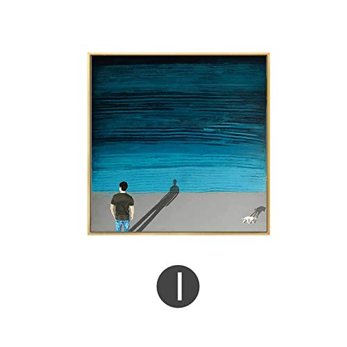 yiyiyaya David Hockney Künstler Bigger Splash Fresh mit blauem Pool Home Decor Poster Print Berühmte Wand Leinwand Kunst für Wohnzimmer 50x50cm