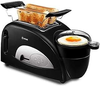 KOSGK Máquina eléctrica para Hacer Pan, máquinas para Hacer Pan, máquina Desayuno multifunciones Tostadora Pan Máquina Hacer Sandwiches Huevo y Vapor Horno eléctrico