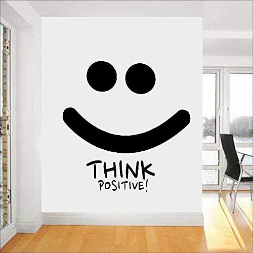 Pensamiento positivo pegatinas de pared aula citas inspiradoras gimnasio vinilo pegatinas de pared oficina arte pegatinas de pared A3 42x42cm
