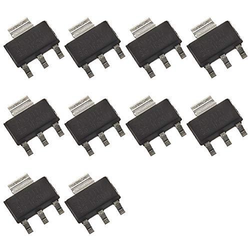 Bridgold 10pcs AMS1117-3.3 AMS1117-3.3V 1117 Forward Low Voltage Linear Regulator 3.3V 1A for Laptop Mobile Phone Battery Charger.