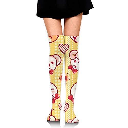 Wangluhaosd - Calze a compressione per donne e ragazze, a forma di piccoli animali, colorate, con personaggi, panda, agnello, gatto, volpe, coniglio, lepre e scoiattolo, garofano