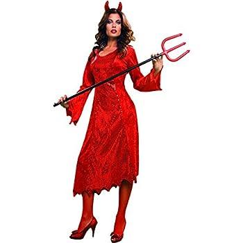 Disfraz de Diablesa rojo para mujer: Amazon.es: Juguetes y juegos