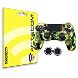actecom® Funda Carcasa + Grip Silicona Camuflaje Amarillo Mando Sony PS4 Playstation 4