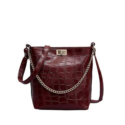 Geschenk fur Frauen Weihanchten Damen Tasche Einkaufstasche Pu Leder Handtasche Shopper Schultertasche Umhängetasche Hobo Tasche Synthetischem Leder Handtasche für Frauen Schwarz Elegant (Rot)