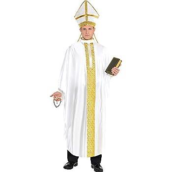 Amscan 847865 Standard Adult Pope Costume Multicolor