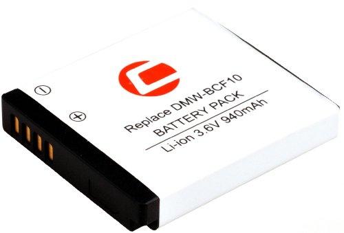 Original Carat electronics Lithium Ionen Ersatz-Akku DMW-BCF10 u.a passend zu Panasonic Lumix DMC-FT2, FT3, FT4, FS10