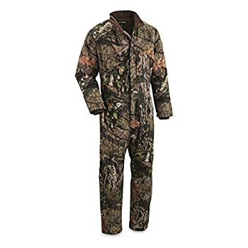 HUNTRITE Men's Long Sleeve Camo Hunting Coveralls Insulated Lightweight and Tactical Mossy Oak Country XL