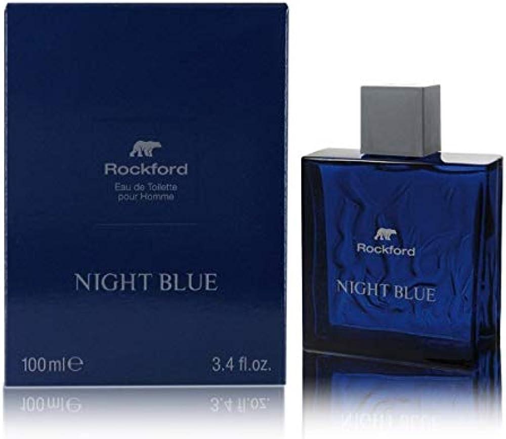 Rockford night blue, eau de toilette, profumo da uomo, fragranza fresca e sensuale, 100 ml 242925