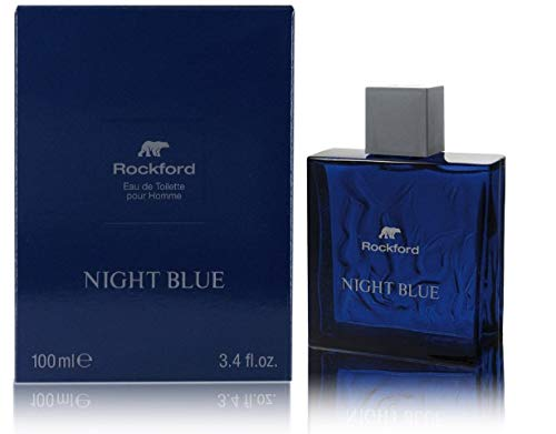 Rockford Night Blue Eau de Toilette, Profumo da Uomo, Fragranza Fresca e Sensuale, 100 ml