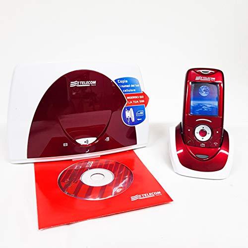 Telefono fisso cordless Aladino Slide, telefono domestico da casa con rubrica, fotocamera, lettore di schede sim per trasferire contatti