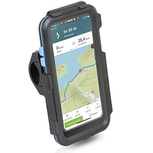 Wicked Chili Tour Case kompatibel mit iPhone 11 - Regendichte iPX5 Schutzhülle + Motorrad Bike MTB Handy Fahrrad Halterung für Navigation (Outdoor Case mit Touch Display Schutz und Lenker Halter)
