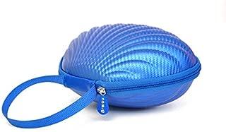 Hard Shell Travel Case for Self Adhesive Silicone Bra - Portable Underwear Bra Organizer Storage Bag (Blue, M)
