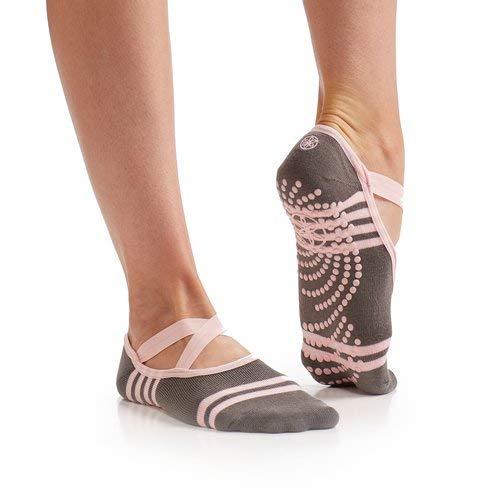 Gaiam Yoga Barre Socks   Non Slip Sticky Toe Grip