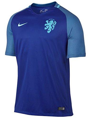 Nike Netherlands Away Stadium Soccer Jersey (Small) Blue