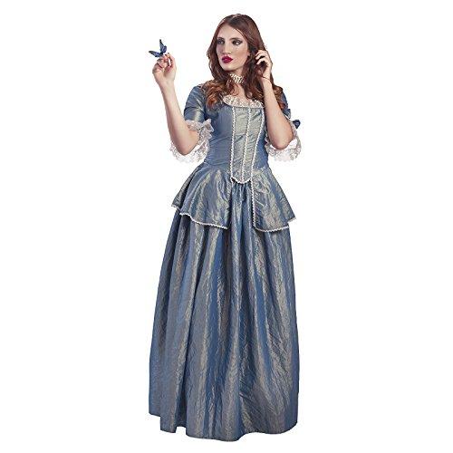 Catalina la Grande Disfraz Victoriano de Lujo Disfraz de seora 2 Piezas Color Azul - S