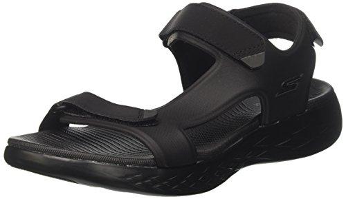 Skechers On-The-go Glide-Venture, Sandalia con Pulsera para Hombre, Negro (Black), 42 EU
