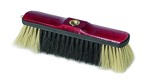 Sanifri 470015011 Borstelgarde, vol natuurlijk haar, gelakte houten behuizing met randbescherming, 29 cm