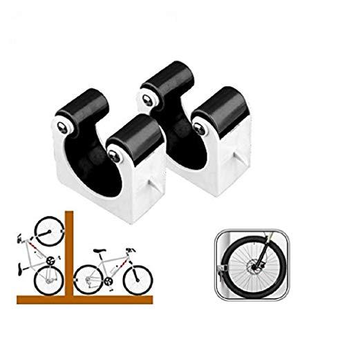 Bike Rack Wall Mounted Bike Parking Buckle Suitable For Bike Storage Mountain Bikes Small Bicycle Wall Mounts Set Of 2 Bike Stands(Black)