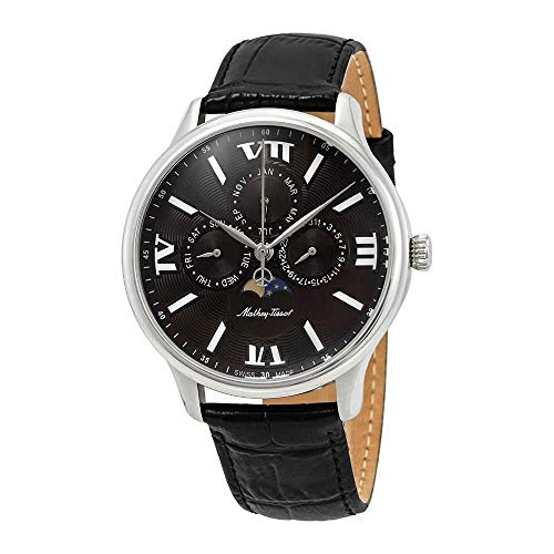 Mathey-Tissot Edmond Moon Phase Black Dial Men's Watch H1886RAN