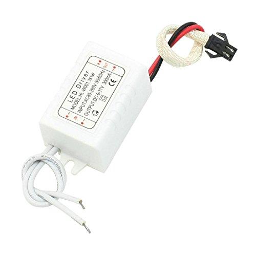 AC 85-265V DC adaptador de corriente del conductor de alimentación 6-11V 300mA para LED 3x1W