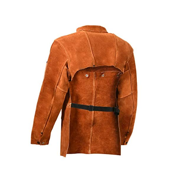 Leaseek Leather Welding Apron with Sleeve 4