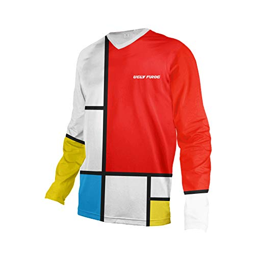 Uglyfrog 2020 Sport Cycling Element MX Jersey Enduro Cross Motorrad Motocross/MTB/Mountain Bike Wear Downhill Rundhals Shirt Herren Thermo Winter Sports Wear 27-DEHerDownMKZR03