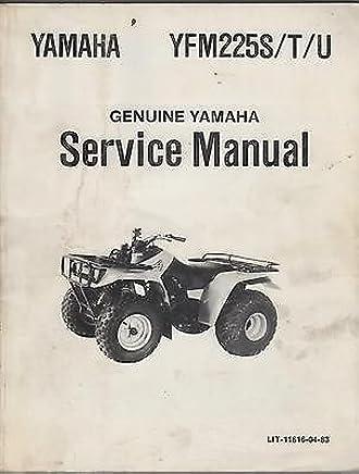 Yamaha Four Wheelers For Sale >> 1985 1986 Yamaha Atv Yfm225s T U Lit 11616 04 83 Service