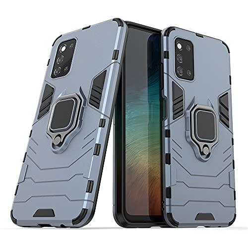 JIAFEI Funda para Samsung Galaxy F52 5G, Grado Militar Anti-Caída Carcasa Resistente con 360° Anillo Rotacion, Azul Marino