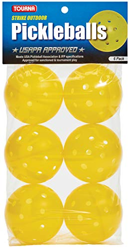 Tourna Strike Outdoor Pickleballs (6 Pack) - USAPA Approved