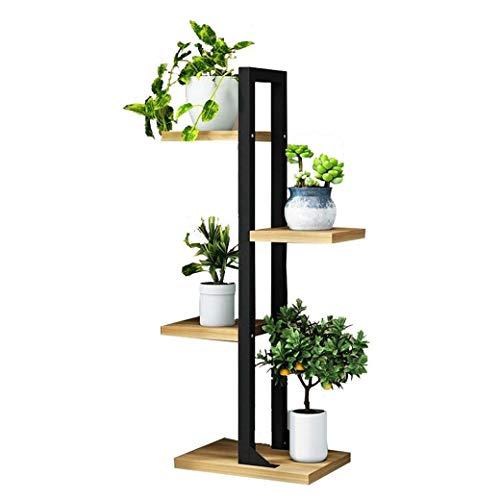 Ssrsgyp Stehen Blume 4 Schichten Eisen-Blumen-Stand/Pflanze Balkon Im Wohnzimmer Und Innen/Außen Metall Schwarz Standing Bonsai-Ausstellungsstand