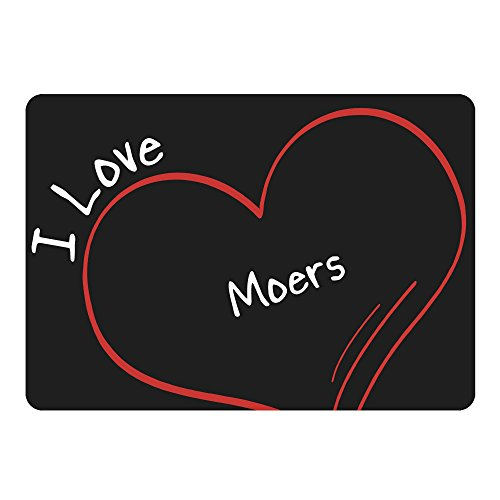 Multifanshop Mousepad Modern I Love Moers schwarz