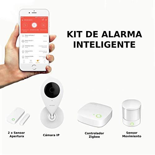 Internet- en WiFi-alarminstallatie, ideaal voor de bescherming thuis of op kantoor. Geen maandelijkse kosten. Bewaking met je mobiele telefoon ontvangt meldingen aan de Orvibo Homemate app.