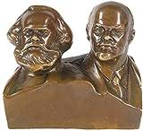 LIUBINGER Escultura Marx y Lenin Estatua, Escultura de Busto de líder, Gran Hombre, artesanías conmemorativas, Modelo de Bronce, decoración de Escritorio de Oficina en casa Manualidades
