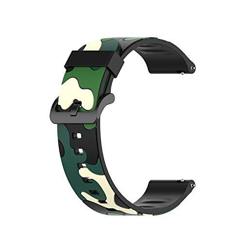 ID205L Bracelet de rechange réglable pour montre de sport ID205L ID205G ID205 ID205U ID205S Vert camouflage