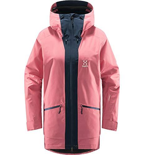 Haglöfs Skijacke Frauen Lumi Insulated Parka wasserdicht, Winddicht, atmungsaktiv Tulip Pink/Tarn Blue S S