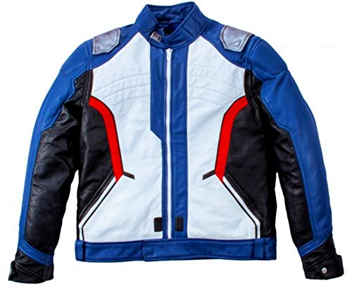Leatherly Men's Overwatch Soldier 76 Multicolor Motorcycle Leather Multicolor Jacket