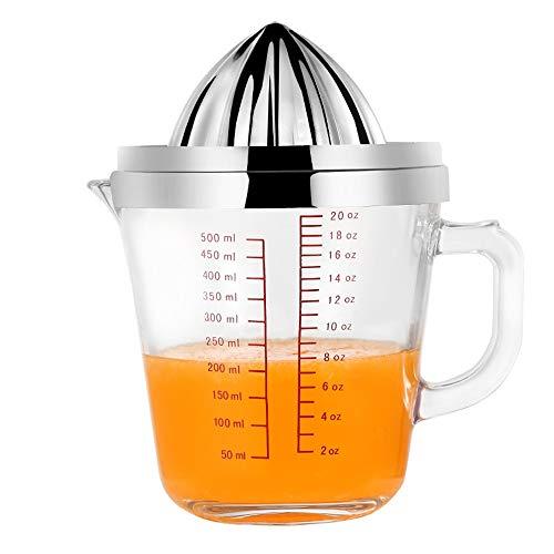 Exprimidor de limón De mano de acero inoxidable exprimidor de cítricos de naranja exprimidor manual exprimidor de frutas de naranja lima limón y verter herramienta de la cocina de cristal exprimidor d