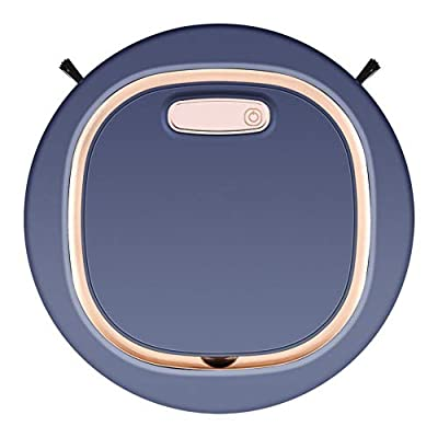 YSMANGO Robotic Vacuum Cleaner, 1500Pa Strong Suction Vacuuming Sweeping & Mopping, 90 Minutes Working Time, USB Charging, Anti-Drop, Auto Sweeper for Pet Hair, Hard Floor, Low Pile Carpets