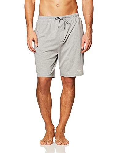 Calvin Klein Men's CK Chill Lounge Short, wolf grey Heather, XL