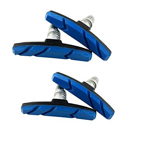 Sayla Bremsschuhe, Fahrrad Bremsklötze, 1 Paar(2 Stück) V-Brake Blocks, Unisex Bremsbeläge, U-Bremse Bremsbacken, Für Symmetrisch Bremsleistung, One Size 70mm (Blau)