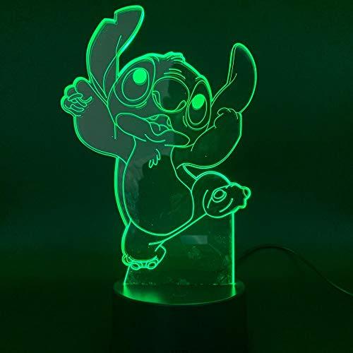 sanzangtang LED Nachtlicht 3D-Vision-Sieben Farben-Fernbedienung-Cartoon Nadel Hund Licht Sehr bunt mit Fernbedienung Nachtlicht Nachtlicht DekorationWiegenlied Nachtlicht