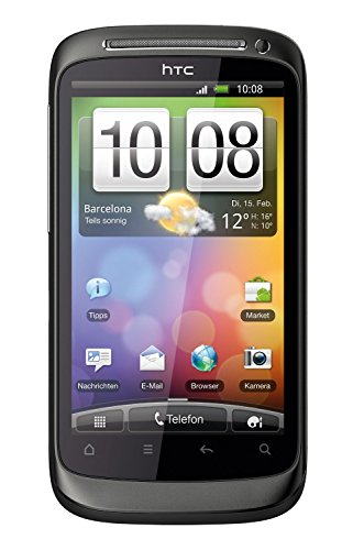 HTC Desire S Smartphone (9,4 cm (3,7 Zoll) Display, Touchscreen, 5 Megapixel Kamera, Android OS) muted black